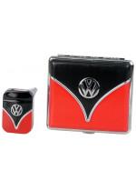 Set tabatěrky a zapalovače VW - červená