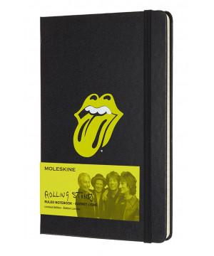 Moleskine Rolling Stones zápisník linkovaný L Black