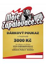 e-Dárkový poukaz 3000 Kč