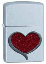 Glitter Heart Zippo 20042