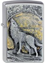 WOLF AT MOONLIGHT EMBLEM 21803