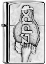 Zippo Torn Paper Emblem 21877
