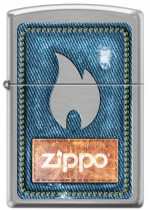 Denim Zippo and Flame 21930