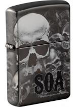 SOA Multi Skulls Zippo 22399