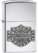 H-D BAR SHIELD CRYSTAL 22832