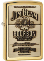 Jim Beam® Brass Emblem Zippo 23156