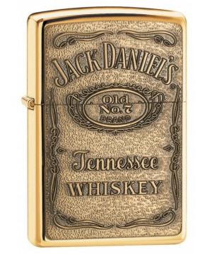 Zippo Jack Daniel's Label - Brass Emblem 24146