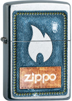 Denim Zippo and Flame 25165