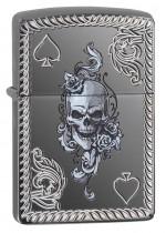 Zippo Spade & Skull Design 25498