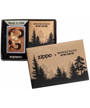 Zippo Woodchuck USA Skull & Snake 25527