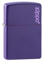 Purple Matte Zippo Logo 26097