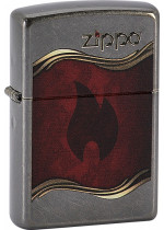 ZIPPO FLAME AND LOGO 26588