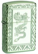 Zippo Armor® High Polish Green Elegant Dragon 26885