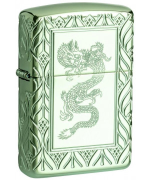 Zippo Armor® High Polish Green Elegant Dragon 26885