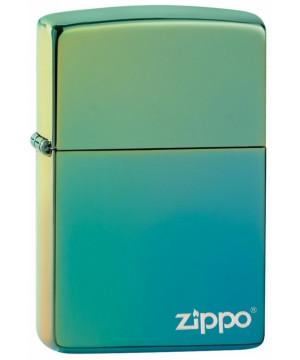 Classic High Polish Teal Zippo Logo 26914