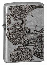Skull Roses Zippo 27141