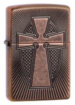 Armor® Deep Carve Cross Design Zippo 27163