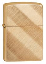Zippo Diagonal Weave Brass 23160