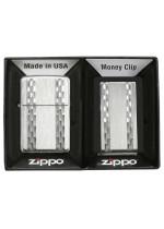 ZIPPO VERT DIAMOND+MONEY CLIP