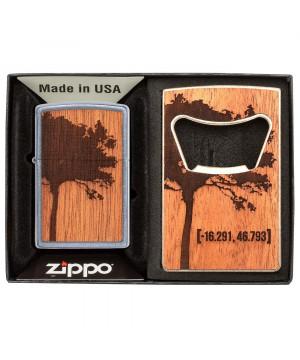 Sada Zippo Woodchuck USA & otvírák na lahve 30059