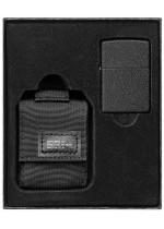 Sada Tactical pouzdro & Black Crackle Zippo - černá