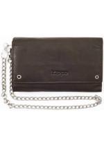 Zippo kožená peněženka s řetízkem 44111