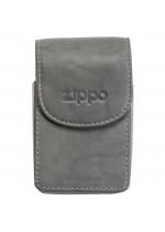 Zippo Kožené pouzdro na cigaretovou krabičku šedé